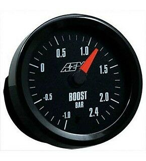 AEM 30-5132M -1-2.4Bar Boost Metric Analog Gauge