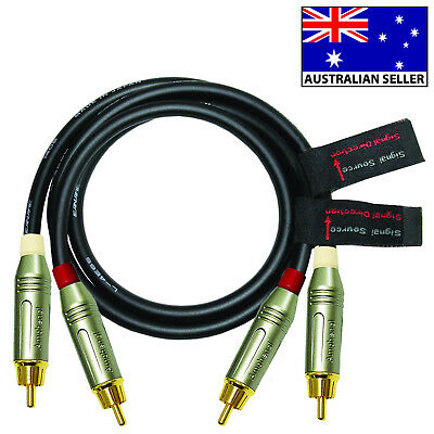 1m RCA Audio Cable Pair - CANARE L-4E6S cable and Amphenol ACPR Connectors