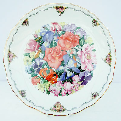 Vintage Royal Albert Collector Plate Queen Mother's Favourite Flowers Finale