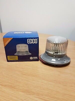 6 x Ecco Single Clear Lense Amber Beacons *Clearance Offer*