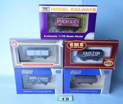 Dapol/airfix 'oo' Rake Of 5X Assorted Goods Wagons Boxed #15