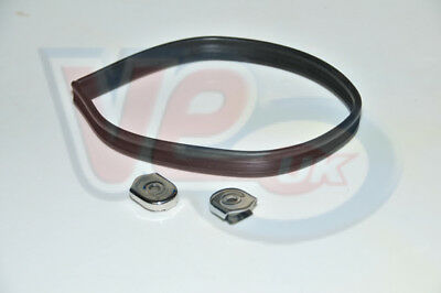 Vespa Sprint Super Rally SS Hard Rubber Seat Strap with Metal Ends - 50cm