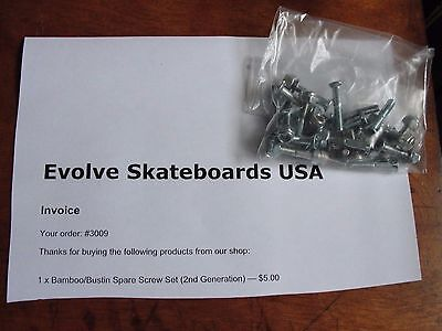 Evolve Bamboo/ Bustin Spare Screw set Gen 2  , NEW !
