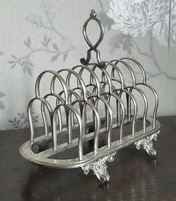 An Ornate Victorian Silver Plated Toast Rack