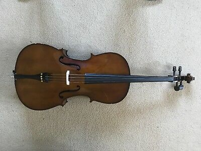 Stentor 1/4 size cello with bow, soft case and music stand.