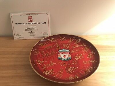 "Liverpool Fc Plate By Danbury Mint (Rob Perry) 8"" Autographs Plate 2003-2004"