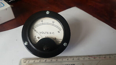 ANALOG VOLTMETER FSD 30 VOLTS 6K OHMS TESTED, ABOUT 68mm MOUNTING HOLE