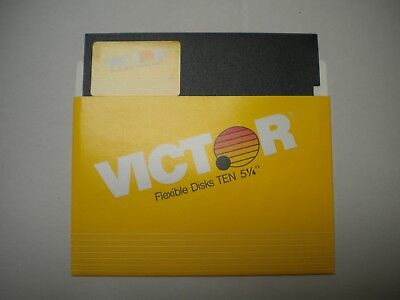 """Quantity 3 of 5.25"""" blank floppy disk, DS DD, Victor branded"""