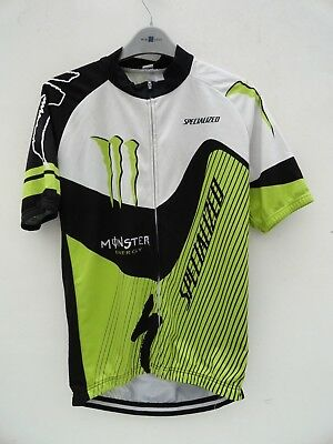 Mens Specialized Monster Energy Short Sleeve Cycling Top Size 42'' Chest