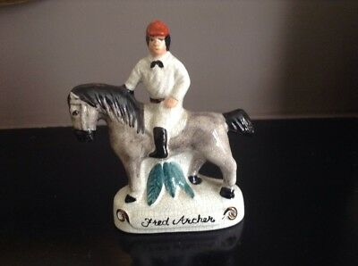Staffordshire Pottery Fred Archer Figure