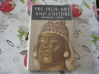 Pre Inca Art & Culture Hermann Leicht Hardback Art Book