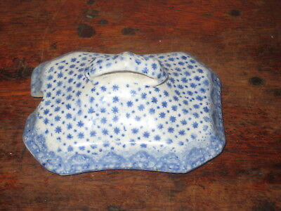 Old Blue & White  Lid Early 19Th Century