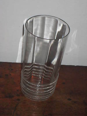 Long Glass Tumbler / Vase Early 20Th Century English Or Italian Appled Twist Dec