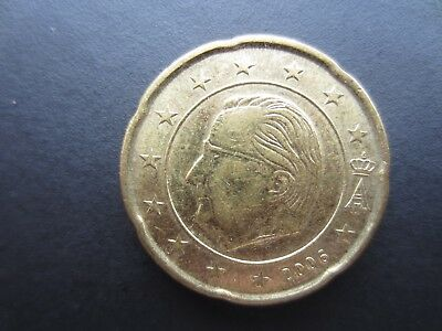 Beglium 20 Euro cents coin, 2006. Circulated.