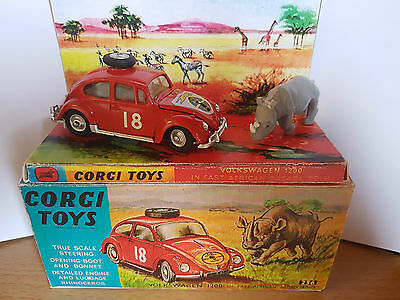 Corgi 256 East African Safari Beetle, Rhino & Box