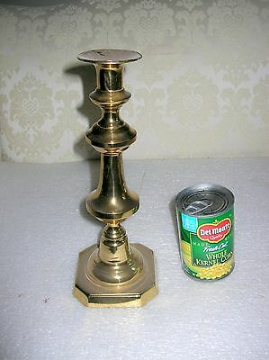"""Tall 19Th Century Brass Push Up  Beehive Candlestick 11 3/4"""""""
