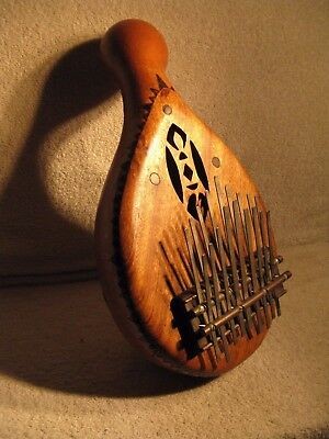 Double row kalimba- made from gourd and inlaid wood.Beautiful, one-of-a-kind?