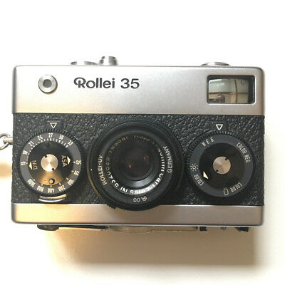 Rollei 35 camera with flash and accessories - made in Germany, Zeiss Tessar lens
