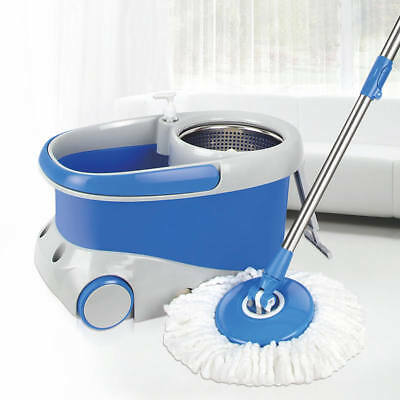 Easy Spin Magic Mop 360 Degrees Rotating With Wheels 3 Free Micro Fiber Mop Head