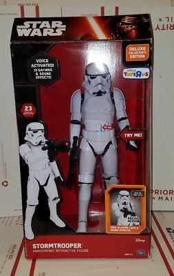 "Star Wars Stormtrooper Animatronic Interactive Figure Voice Activated 17"" R1C"