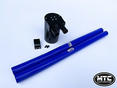 Mtc Motorsport Oil Catch Can Tank Billet Steel Reservoir Universal 18Mm Blue Vxr