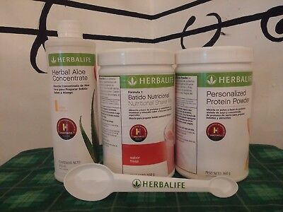 HERBALIFE FORMULA 1 SHAKE MIX, ALOE CONCENTRATE, PROTEIN POWDER, BEST OFFER v