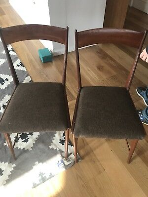 Gorgeous Rare mid century Dining Chairs