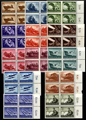 Germany - SG 861-873 - 1944 - Armed Forces Day Set of 13 in Blocks of 4 - MNH