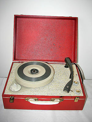Vintage 60's Valve Portable record Player   Fully Serviced & Guaranteed