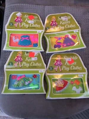 Lot of 4 Vintage Mattel Skediddle Liddle Kiddles Toy Play Clothes NIB