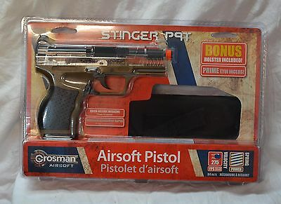 Crosman Stinger P9T Spring Powered Tactical Airsoft pistol / holster (#bte48)
