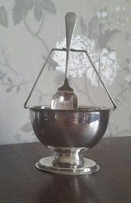 A Vintage Silver Plated Sugar Bowl with Spoon, Yeoman Plate