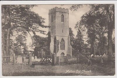 Old Postcard Melton Old Church Nr Woodbridge Posted 1915