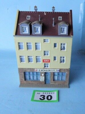 Kibri 'ho/oo' Gauge Kitbuilt High St Shops/apartments Inc Prewired Lights #30
