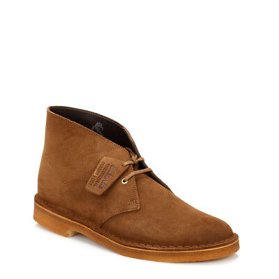 Clarks Mens Cola Desert Boots Lace Up Dark Brown Suede Casual Ankle Shoes