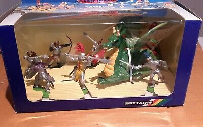 BRITAINS Knights of the sword. POWER DRAGON and five figures 7756