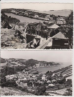 2 Old Photo Postcards Coome Martin The Shelters and General View