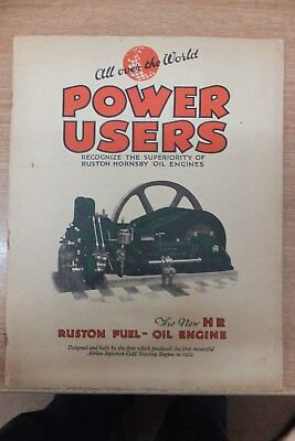 ruston & hornsby horizontal class HR oil engines sales catalogue vintage