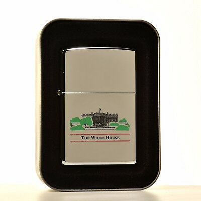 United States of America The White House Zippo : 2004 : Mint in Collectors Tin