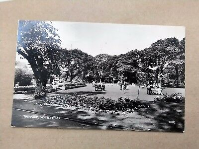 Newcastle WHITLEY BAY PARK 1958 Real Photo Postcard to