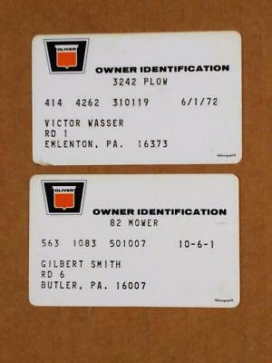 7210-7-----early 1970s Oliver owner warranty cards lot of 2