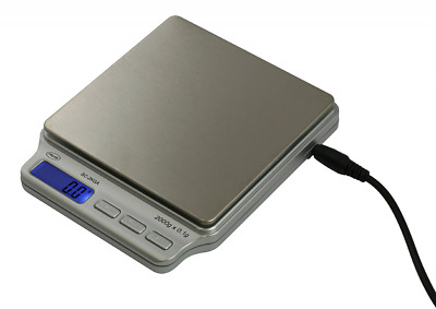 AWS Digital Pocket Scale 2000 Gram x 0.1 Gram AC Adapter American Weigh Scales