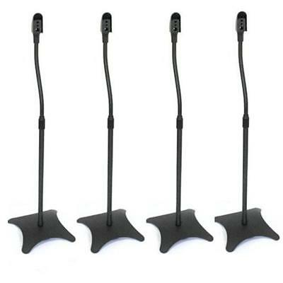 Slim Design Surround Sound Satellite Speaker Stands Durable Quality Adjustable