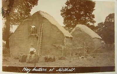 Hay Cutters At Northolt Middlesex 1914 Rp Pc