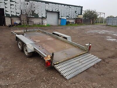 car transporter trailer 14ft by 6ft No Vat tilt bed