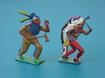 Johillco Indians With Tomahawks - Rare Vintage Lead