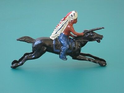 Johillco Mounted Indian Galloping - Vintage Lead