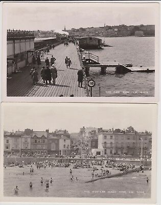 4 Old Photo Postcards Ryde Isle of Wight