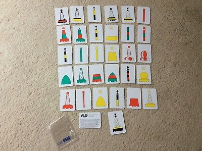Marine Flip Cards Buoyage System 31 Cards Used