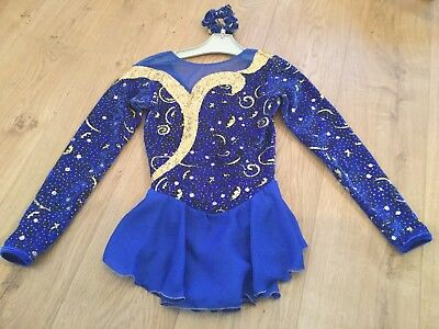 Girl's Ice Skating Dress Age 10-12 With Matching Hairband